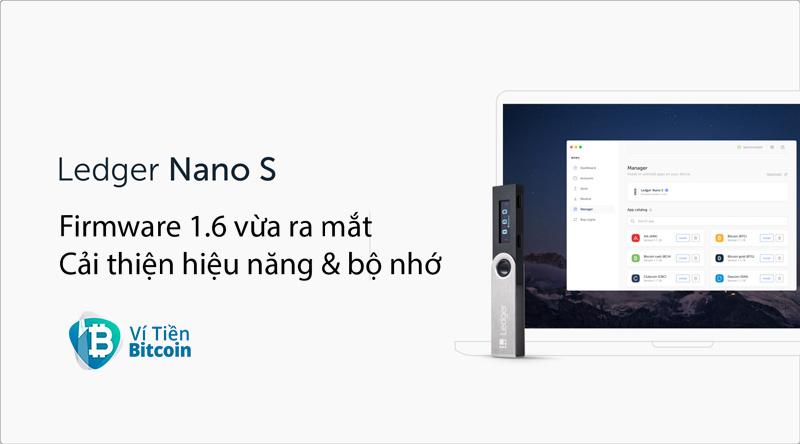 Ledger ra mắt Firmware 1.6 cho ví lạnh Ledger Nano S