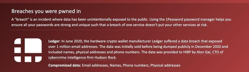 Nếu nó hiện Oh no - pwned! thì email của bạn đã bị rò rỉ thông tin. Phía dưới trang web cũng liệt kê những nơi mà email của bạn đã bị lộ.