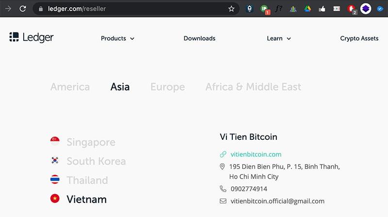 VTBC là phân phối chính thức của Ledger tại VN